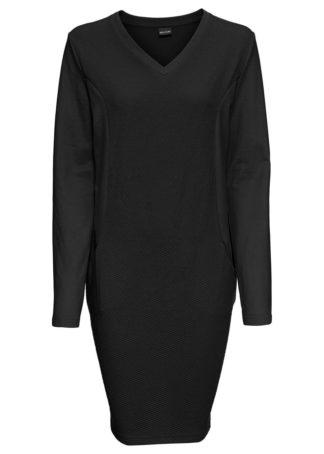 Sukienka dresowa bonprix czarny