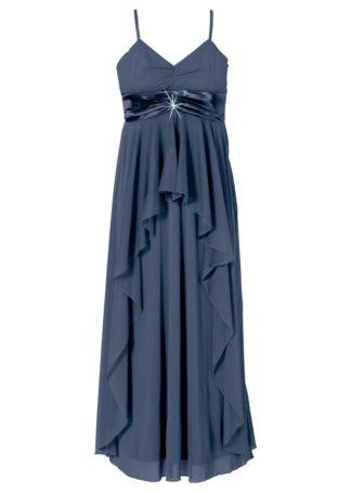 Długa sukienka bonprix ciemnoniebieski