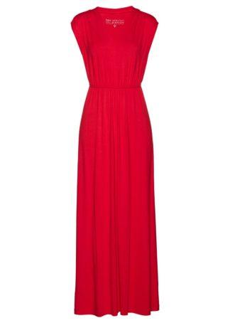 Długa sukienka shirtowa bonprix czerwony