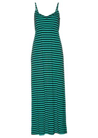Długa sukienka bonprix zielony oceaniczny - ciemnoniebieski