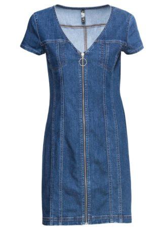 "Sukienka dżinsowa bonprix ciemnoniebieski ""stone"""