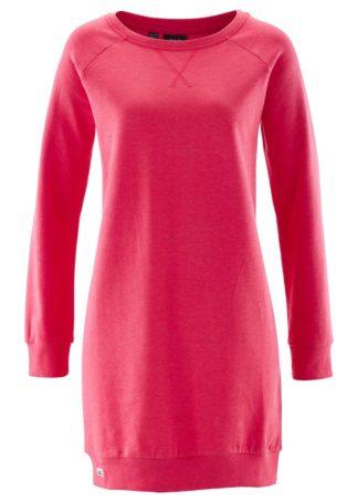 Sukienka dresowa bonprix różowy hibiskus