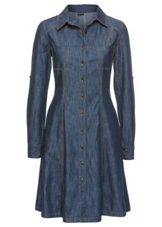 Sukienka dżinsowa bonprix indygo