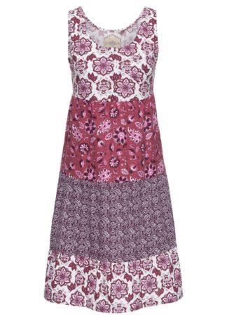 Sukienka bonprix jeżynowy wzorzysty