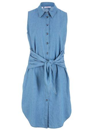 Sukienka dżinsowa bonprix jasnoniebieski