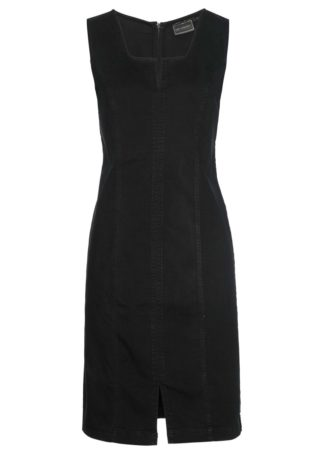 """Sukienka dżinsowa bonprix czarny """"stone"""""""