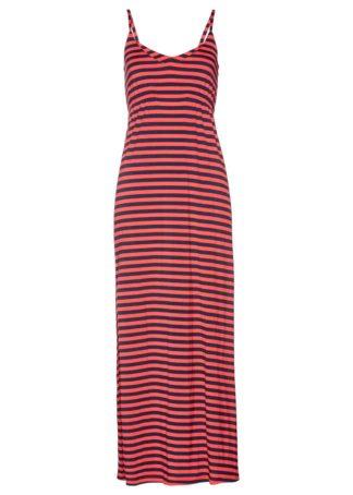 Długa sukienka bonprix koralowo-ciemnoniebieski