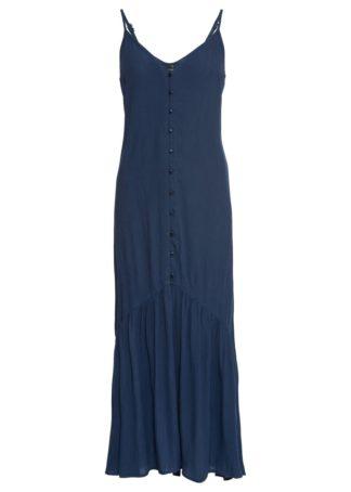 Długa sukienka bonprix głęboki niebieski