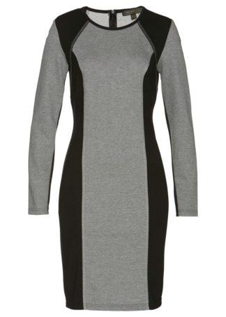 Sukienka dresowa bonprix szaro-czarny