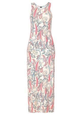 Długa sukienka z dżerseju bonprix paisley