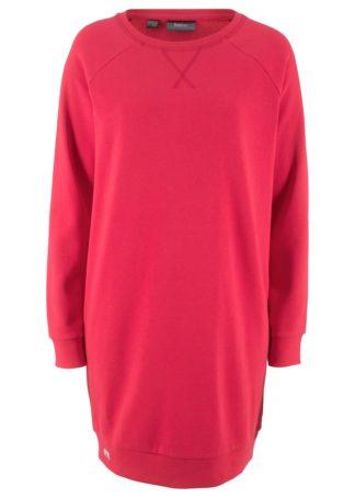 Sukienka dresowa bonprix czerwony