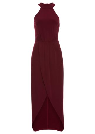 Długa sukienka bonprix ciemnoczerwony