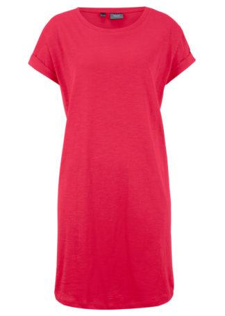 """Sukienka shirtowa """"boxy"""" bonprix czerwony"""