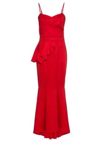 Długa sukienka wieczorowa bonprix czerwony