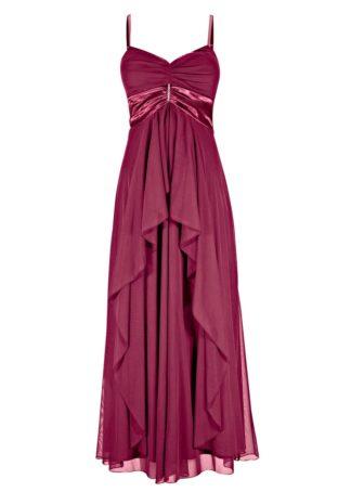 Długa sukienka bonprix jeżynowy