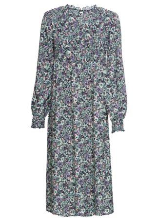 Sukienka midi bonprix ciemnoniebieski w kwiaty