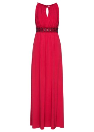 Długa sukienka bonprix czerwony