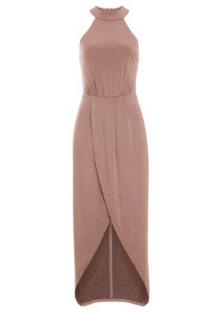 Długa sukienka bonprix stary jasnoróżowy