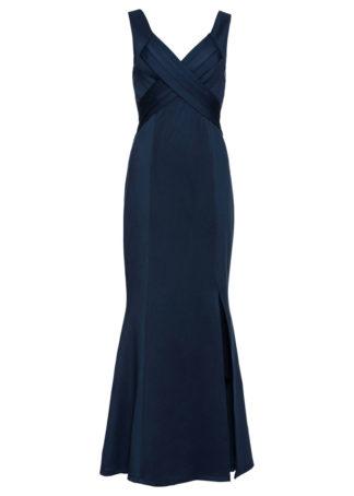Długa sukienka wieczorowa bonprix ciemnoniebieski