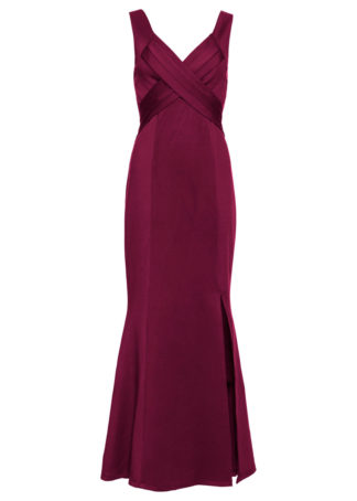 Długa sukienka wieczorowa bonprix ciemnoczerwony