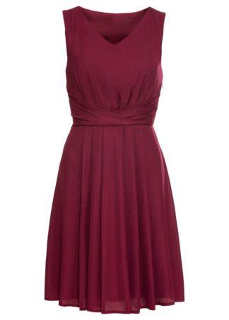 Sukienka drapowana bonprix jeżynowy