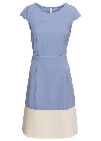 """Sukienka """"color-blocking"""" bonprix niebiesko-beżowo-szary"""