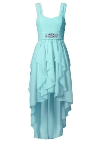 Sukienka bonprix morski pastelowy