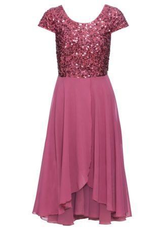Sukienka wieczorowa bonprix jagodowy