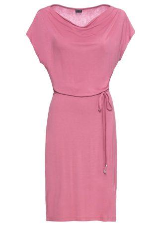 Sukienka z dżerseju bonprix jeżynowy sorbetowy
