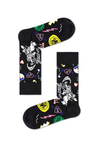 Happy Socks - Skarpetki x Linda And Johnny Ramone Black Guitar