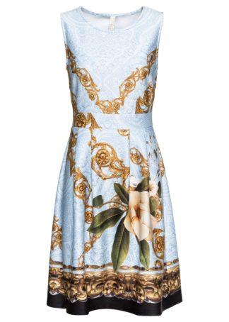 Sukienka wzorzysta bonprix jasnoniebieski wzorzysty