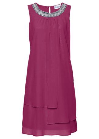 Sukienka Premium z aplikacją bonprix fioletowy