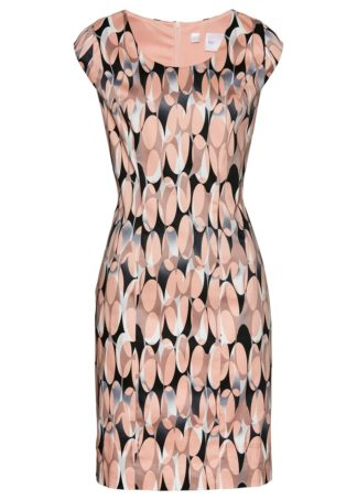 Sukienka ołówkowa z nadrukiem bonprix stary jasnoróżowy z nadrukiem