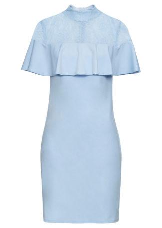Sukienka z koronkową wstawką bonprix jasnoniebieski