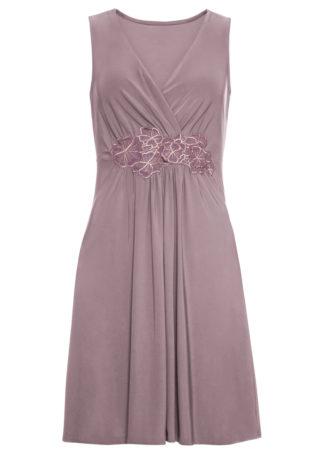 Sukienka z aplikacją bonprix dymny lila
