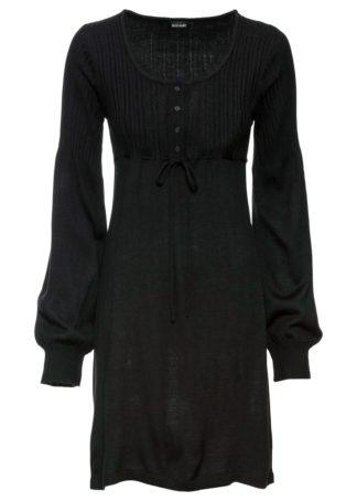 Sukienka dzianinowa bonprix czarny