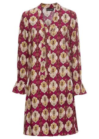 Sukienka bonprix jeżynowy z nadrukiem