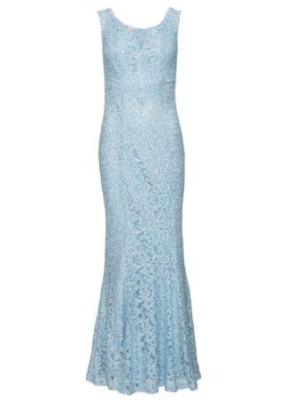 Sukienka koronkowa bonprix jasnoniebieski