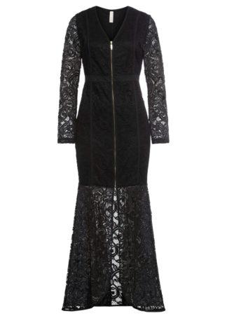 Długa sukienka wieczorowa bonprix czarny