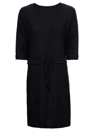 Sukienka z dżerseju bonprix czarny