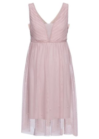 Sukienka ślubna bonprix matowy jasnoróżowy