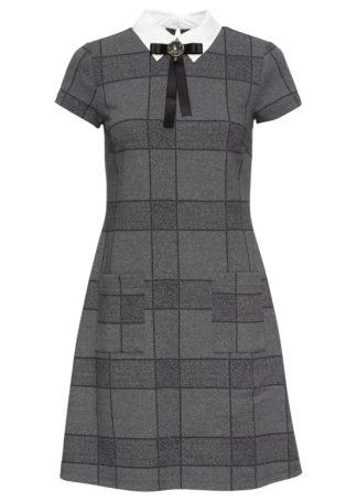 Sukienka w biznesowym stylu bonprix szary w kratę