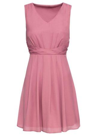 Sukienka drapowana bonprix jeżynowy sorbetowy