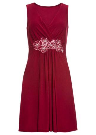 Sukienka z aplikacją bonprix bordowy