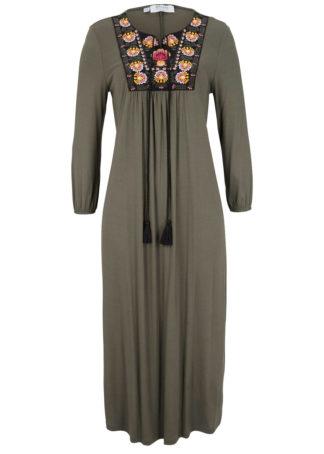 Sukienka z kolekcji Maite Kelly bonprix ciemnooliwkowy