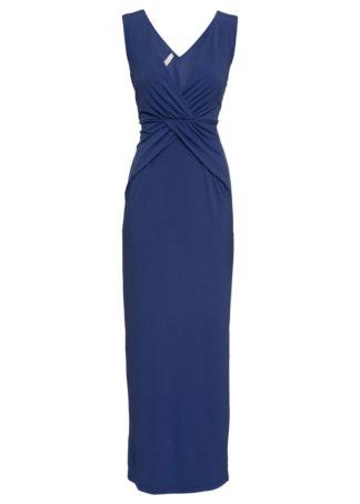 Sukienka maxi bonprix kobaltowy