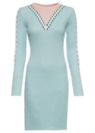 Sukienka dzianinowa bonprix jasnoniebiesko-jasnoróżowy