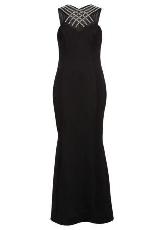 Sukienka wieczorowa z perłami bonprix czarny