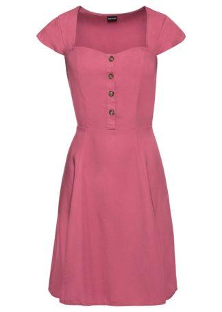 Sukienka z tencelu z guzikami bonprix jeżynowy sorbetowy