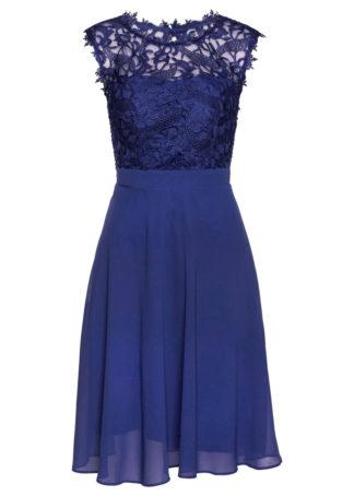 Sukienka z koronką bonprix szafirowy